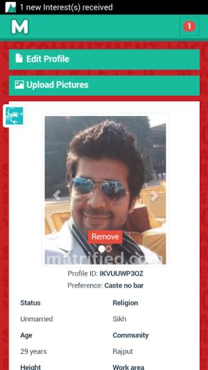Android Free Matrimonial - Matrified Screen 6