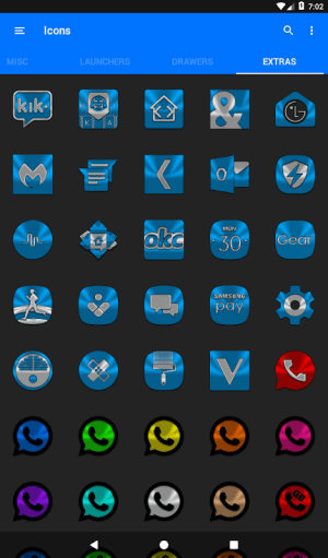 Light Blue Icon Pack Free 3.9 Screen 5