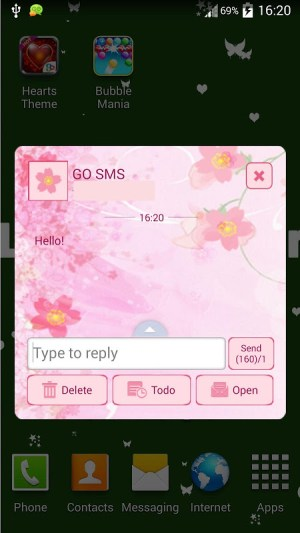 GO SMS Pro Pink Flower 1.4 Screen 5