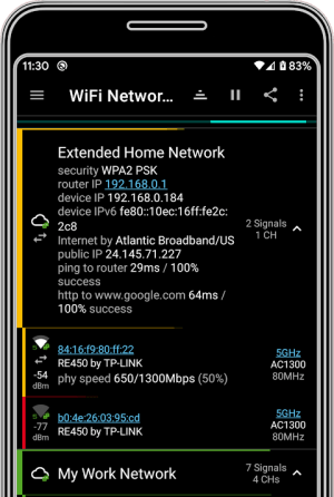 analiti - Speed Test WiFi Analyzer 9.0.27615 Screen 2