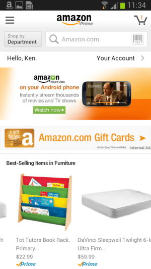 Android Amazon Screen 5