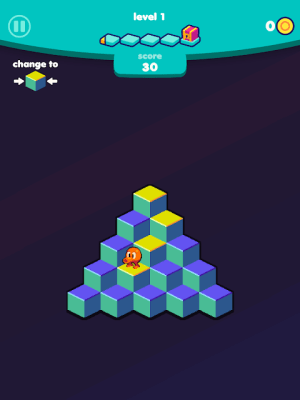 Q*bert 1.3.4 Screen 2