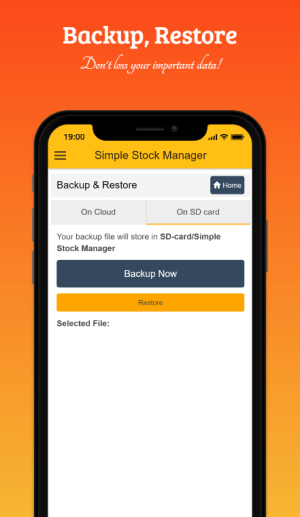 Simple Stock Manager 4.3.0 Screen 3