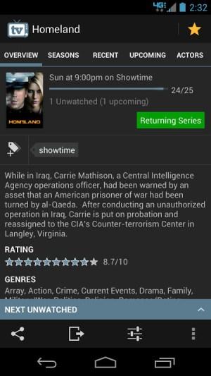 TV Show Favs 4.0.0 Screen 5
