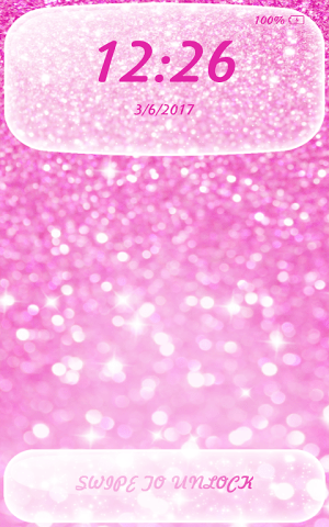Android Glitter App Lock Screen 6