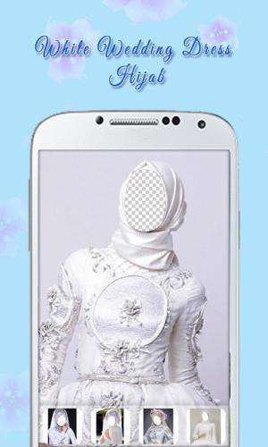 White Wedding Dress Hijab 1.3 Screen 2