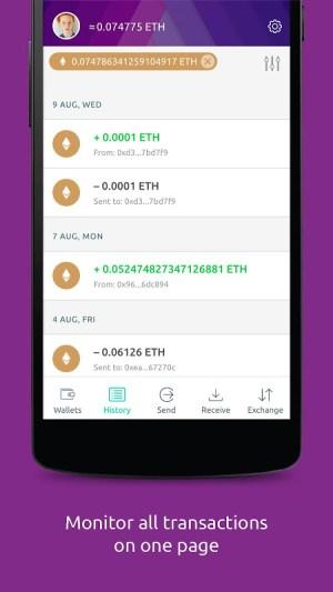 Freewallet: Ethereum Token Wallet 1.0.20 Screen 1