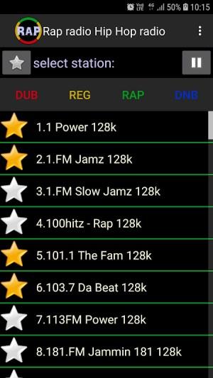 Android Rap radio Hip Hop radio Screen 2