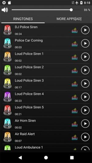 Loud Siren Ringtones FREE 1.4 Screen 4