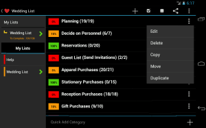 Wedding List - FREE 7.0c Screen 4