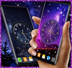Android Night Sky Clock HD Pro 🌜 4K Live Wallpaper Themes Screen 4