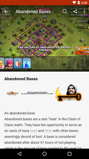 Android FANDOM for: Clash of Clans Screen 4