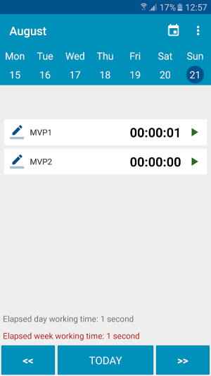 Android Time report Employee Timesheet Screen 3