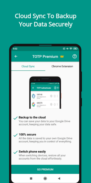 TOTP Authenticator – 2FA with Cloud Sync & Widgets 1.87 Screen 1