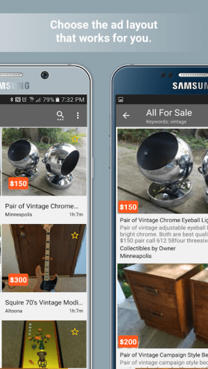 Postings (Craigslist Search App) 4.1.3 Screen 2