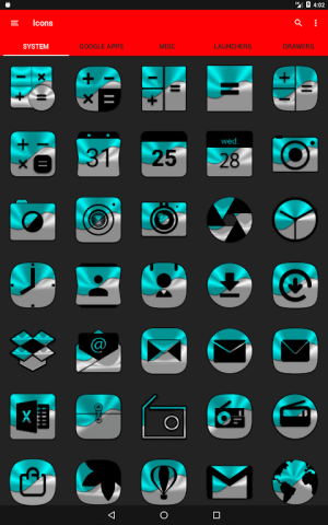 Half Light Cyan Icon Pack Free 2.3 Screen 12