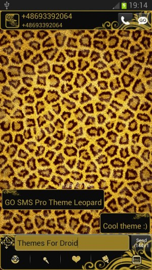 Theme Leopard for GO SMS Pro 2.0 Screen 2