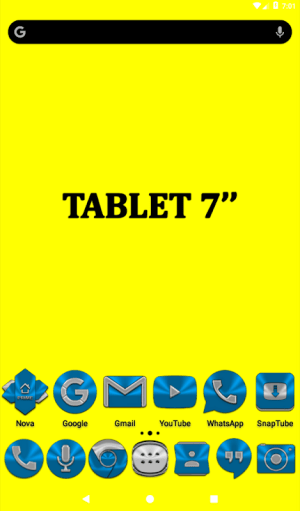 Light Blue Icon Pack Free 3.9 Screen 8
