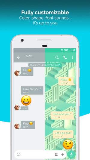 Mood Messenger - SMS & MMS 1.71v Screen 1