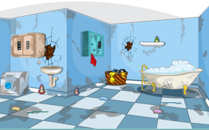 Android 3D Escape Messy Bathroom Screen 12