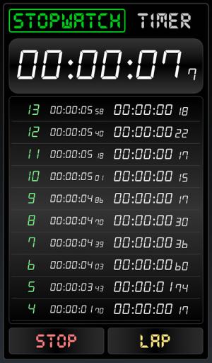 Stopwatch Timer 1.1.0 Screen 1