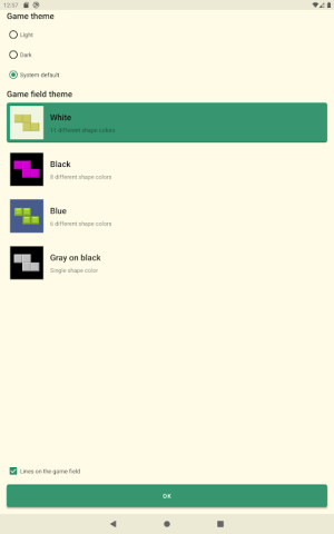 Android Brick Game Screen 9