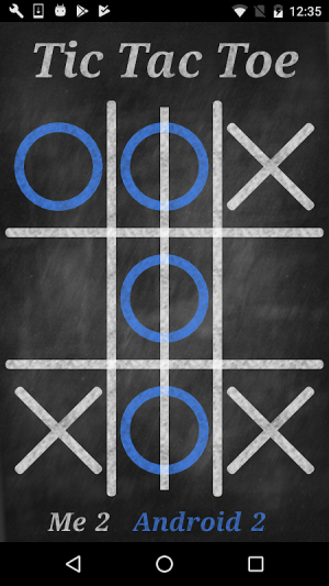 Android Tic-Tac-Toe Screen 1