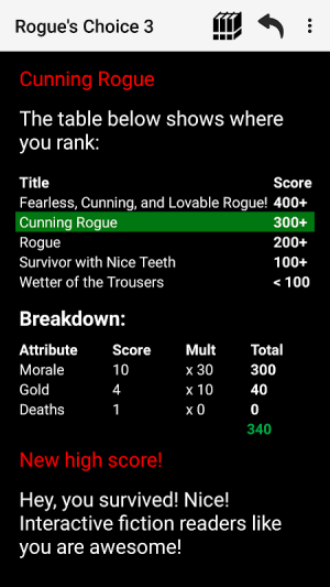 Android Rogue's Choice: Choices Game RPG Screen 7