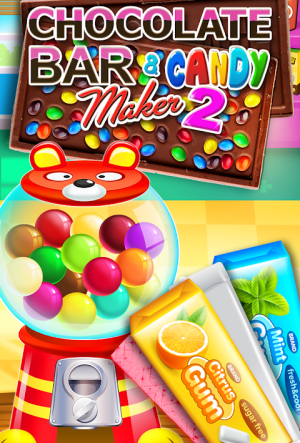 Chocolate Candy Bars Maker & Chewing Gum Games 2.6 Screen 2