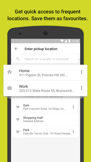 Ola cabs - Taxi, Auto, Car Rental, Share Booking 4.5.6 Screen 5