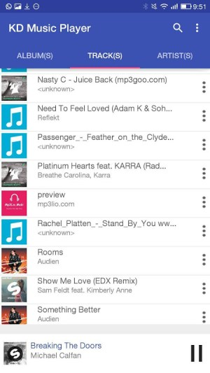 KD Music Player 3 Screen 1