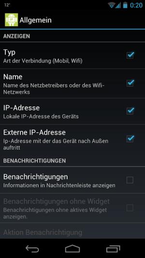 IP Widget 1.43.0 Screen 5