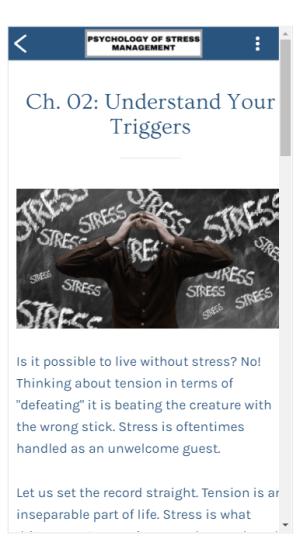 Psychology of Stress Management 1.0 Screen 4