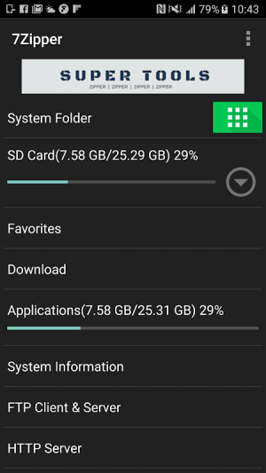 Android 7Zipper - File Explorer (zip, 7zip, rar) Screen 2