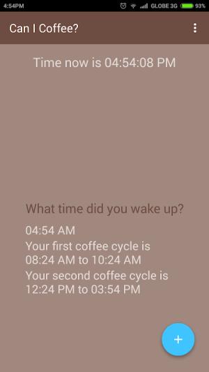 Can I Coffee? 0.1.8 Screen 1