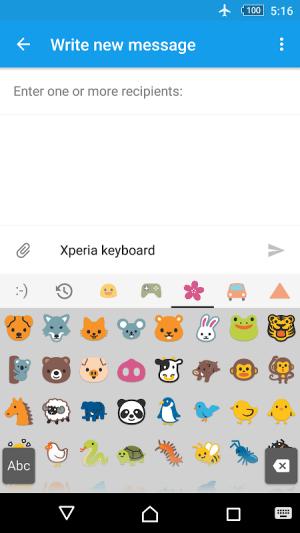 Xperia Keyboard 8.1.A.0.12 Screen 1
