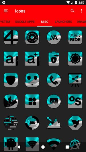 Half Light Cyan Icon Pack Free 2.3 Screen 1