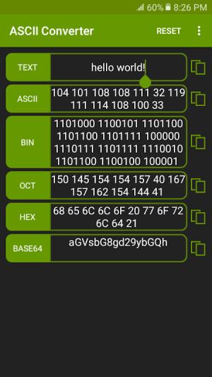 ASCII Converter - Text Encoder 1.2.4 Screen 3
