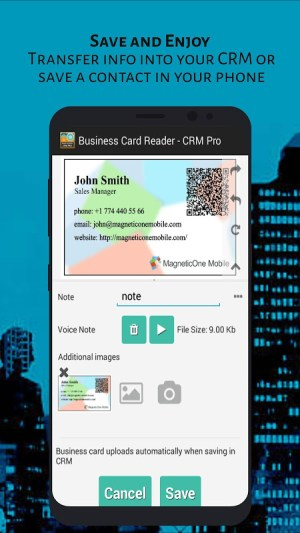 Android Business Card Reader - CRM Pro Screen 7