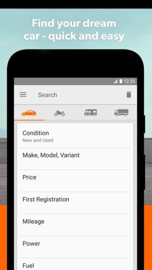 mobile.de – Germany's largest car market 7.27.1 Screen 2