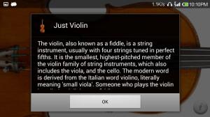 Just Violin 1.0 Screen 1