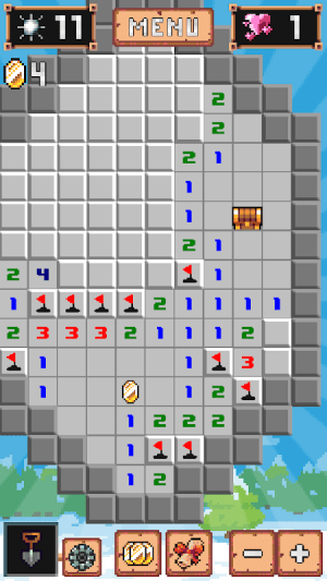 Android Minesweeper: Collector - Online mode is here! Screen 1