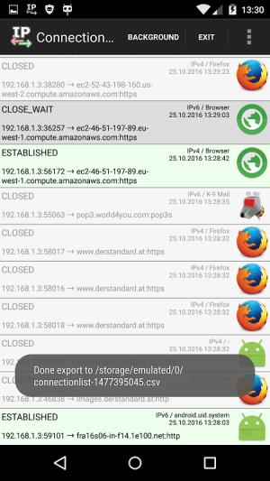 net.bananenfisch.connectionlistlite 1.3 Screen 3
