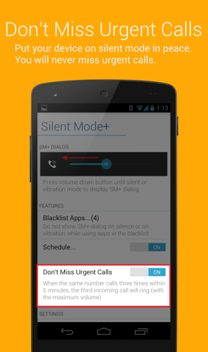 Android Silent Mode+ PRO (DND) Screen 2