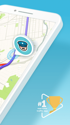 Waze - GPS, Maps, Traffic Alerts & Sat Nav 4.50.1.1 Screen 1