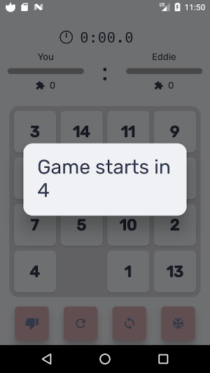 Android Puzzle 15 multiplayer Screen 7
