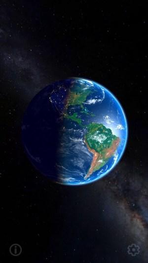 3D Earth & Real Moon. Live Wallpaper. 1.1.0 Screen 2