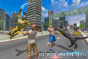Superhero Panther Flying City Survival 1.0 Screen 4