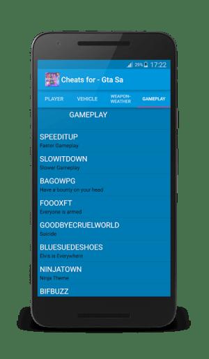 Cheat for Gta San Andreas Plus 1.3 Screen 4