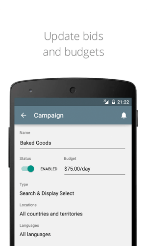 AdWords 1.10.0 Screen 2